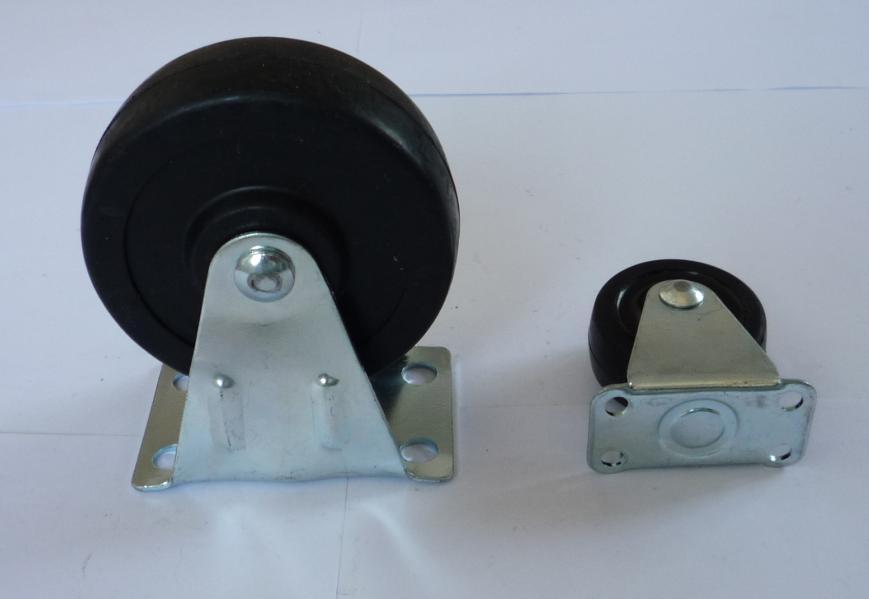 供应轻型定向橡胶轮  固定橡胶轮  1.5寸2寸橡胶轮