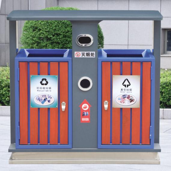 厂家定做新款钢木垃圾桶厚度1.2