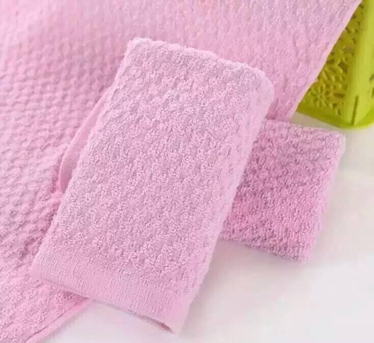 32线平织菠萝纹染色面巾