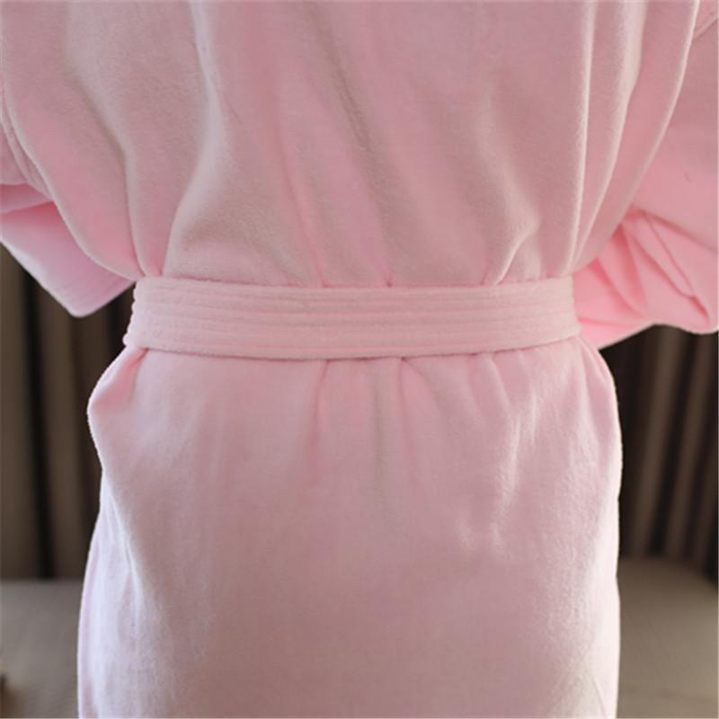 割绒和服领浴袍