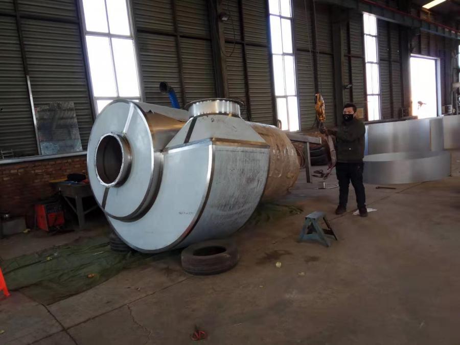 泊头嘉升不锈钢制品、定制不锈钢旋风除尘器配件