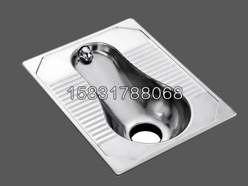 新凯不锈钢一体蹲便器 移动厕所用不锈钢厕具批发