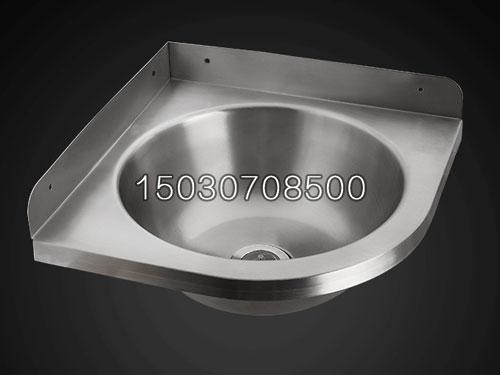 节水冲不锈钢洗手盆公共厕所用角落三角形洗手盆