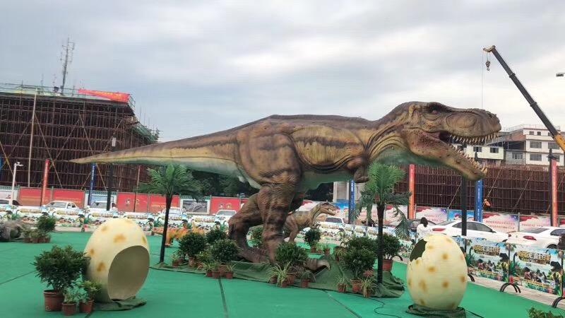 恐龙展现场人气火爆仿真恐龙出租仿真恐龙租赁