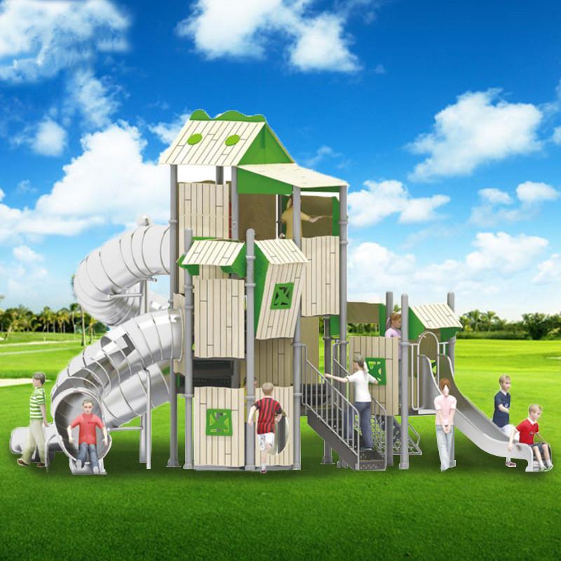 温州悠奇儿室外大型滑梯攀爬网组合体能训练游乐设施